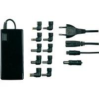 Síťový adaptér pro notebooky Voltcraft NPS-90A USB, 15 - 19 VDC, 90 W, s LCD displejem