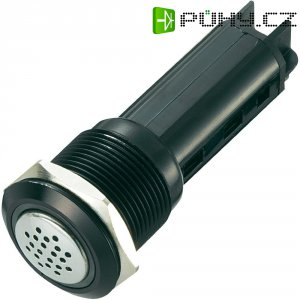 Sirénka / kontrolka, 80 dB 12 V/DC, 19 mm, IP50, červená