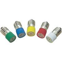 LED žárovka E10 Barthelme, 70113122, 12 V, 1,2 lm, červená