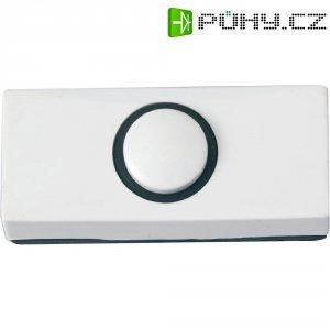 Zvonkové tlačítko Heidemann 70180, max. 24 V/1 A, bílý plast
