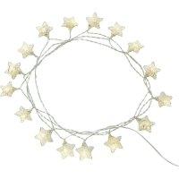 Světelný řetez s hvězdami Polarlite, 16 LED, 3 m, teplá bílá