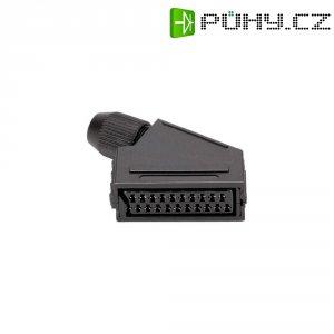 SCART konektor BKL 903014, zásuvka úhlová, 4 - 8 mm, 21pól., černá