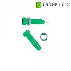 Laboratorní konektor Ø 2 mm MultiContact 23.0050-25, zásuvka vestavná vertikální, zelená