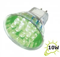 Žárovka LED MR16/12VAC (20x) - zelená