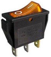 Vypínač kolébkový OFF-ON 1pol.250V/15A žlutý