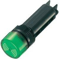 Sirénka / kontrolka, 80 dB 12 V/DC, 16 mm, zelená
