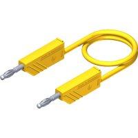 Měřicí kabel banánek 4 mm ⇔ banánek 4 mm SKS Hirschmann CO MLN 50/2,5, 0,5 m, žlutá