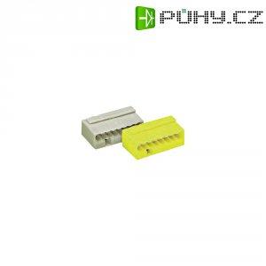 Mikro svorka Wago, 243-508, 0,6 - 0,8 mm², 8pólová, žlutá