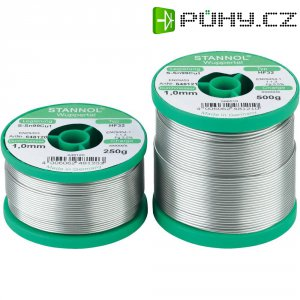 Cínová pájka PBF, Sn99Cu1, Ø 1 mm, 250 g, Stannol HF32 3500