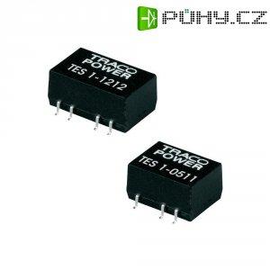 DC/DC měnič TracoPower TES 1-0522, vstup 5 V/DC, výstup ±12 V/DC, ±40 mA, 1 W