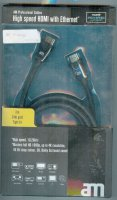 Kabel HDMI(A)-HDMI(A) 1,5m, opletený kabel 8mm DOPRODEJ
