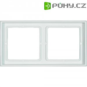 Krycí rámeček Jung, LS 982 WW, dvojnásobný, bílá