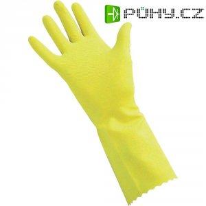 Úklidové rukavice, přírodní latex, velikost 8, žlutá