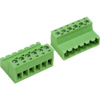 Šroubová svorkovnice PTR AKZ950/3-5.08-INV (50950037028F), 5,08 mm, světle zelená