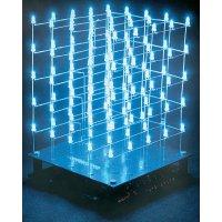 3D LED kostka Velleman K8018W, 9 V, stavebnice, bílá