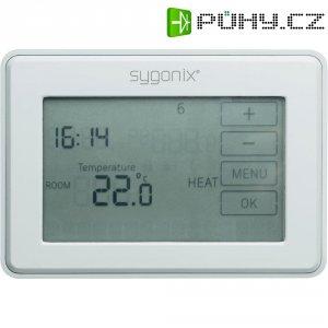 Pokojový termostat s dotykovým displejem Sygonix tx.5, 5 až 45 °C, bílá