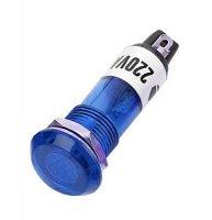 Kontrolka 230V s doutnavkou, modrá do otvoru 10mm