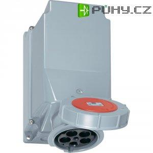 CEE zásuvka Twist 145-6 PCE, 125 A, IP67, šedá/červená