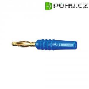 Lamelový konektor Ø 2 mm MultiContact 22.2618-23, zástrčka rovná, modrá