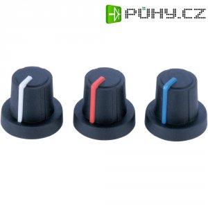 Otočný knoflík (Ø 19 mm) Soft-Touch PB Fastener 3/03/TPN 130006, 6 mm, černá/šedá