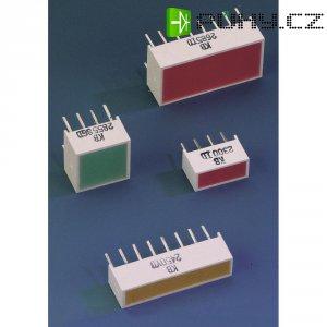 Plochá LED 2násobná Kingbright KB2500SGD, LIGHT-BAR-LED, 10 mm, zelená