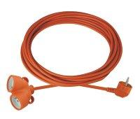 Prodlužovací kabel - spojka 20m 2 zásuvky oranžový