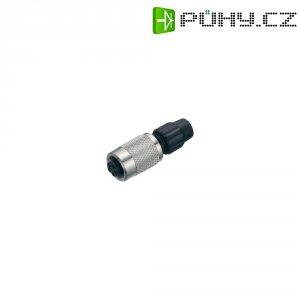 Kulatý konektor submin. Binder 711 (99-0076-100-03), kab. zásuvka, 3pól., 0,25 mm², IP40