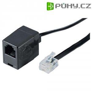 Telefonní kabel zástrčka RJ11 6p4c ⇔ zásuvka RJ11 6p4c, 6 m