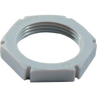 Pojistná matice Wiska EMUG M50 RAL 7035 (10060776), polyamid, světle šedá