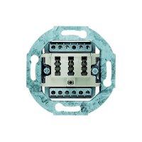 Zásuvka TAE Busch-Jaeger 2x6/6 NFF, 0242/02, krémově bílá
