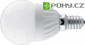 Žárovka LED E14C45 koule, bílá, 230V/3,5W DOPRODEJ