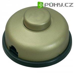 Nášlapný vypínač interBär, 1pólový, 250 V/AC, 2 A, zlatá/zlatá