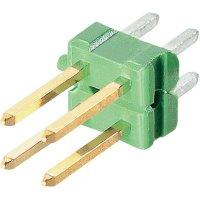 Kolíková lišta MOD II TE Connectivity 825440-9, rovná, 2,54 mm, zelená