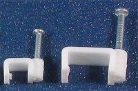 Kabelová příchytka plochá 12x6,1mm bílá