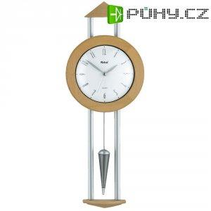 Quarz kyvadlové hodiny - pendlovky, 14716, 21 x 53,5 x 5 cm, černá/hnědá/stříbrná