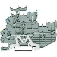 Hlavní svorka WAGO 2020-2257, osazení: Terre, L, pružinová svorka, 3.50 mm, šedá, 1 ks