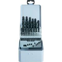 25-dílná sada ocelových vrtákuHSS-R DIN 338 RN