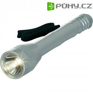 Kapesní svítilna 2AA, 3 V, xenonová, šedá