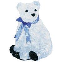 Akrylátový LED lední medvěd Konstsmide, sedící