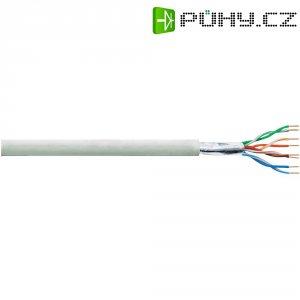 CCA kabel LogiLink CAT5E F/UTP, šedá, 100 m