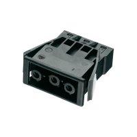 Vestavná síťová zásuvka Adels Contact AC 166 GEBU/3, 250 V, 16 A, černá, 168863