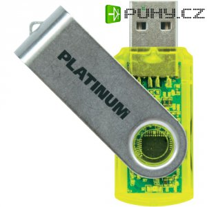 Flash disk Platinum Twister 64GB žlutý