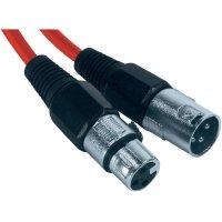 XLR kabel, XLR(F)/XLR(M), 4 m,červená