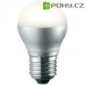 LED žárovka Sygonix, E27, 4,5 W, 230 V, 78 mm, stmívatelná, teplá bílá