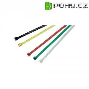 Znovuotevíratelné pásky HellermannTyton LR55R-PA66-RD-Q1, 195 x 4,7 mm, 25 ks, červená