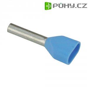 Dvojitá dutinka Vogt 470208D, 0,75 mm², 8 mm, 100 ks, modrá
