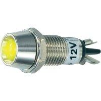 LED signálka SCI R9-115L 12, LED vnitřní reflektor 5 mm, 12 V/DC, žlutá