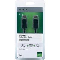Display port Belkin, připojovací kabel 3 m, černý