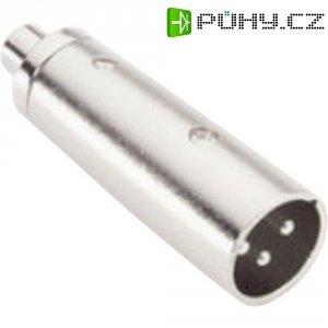 Redukce cinch (F) / XLR (M), stříbrná