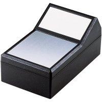 Pultové pouzdro ABS TEKO, (d x š x v) 145 x 85 x 49/73 mm, černá;stříbrná
